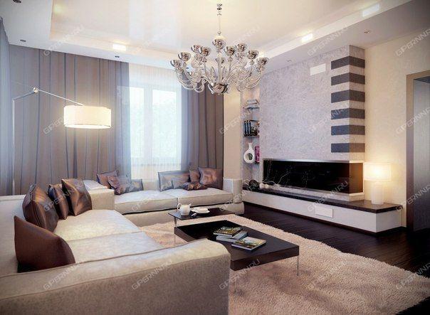 Интерьер гостиной фото в современном стиле 18
