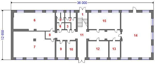 Продаю административное здание площадью 741.2 кв.м в Приокском районе - план 1-го этажа