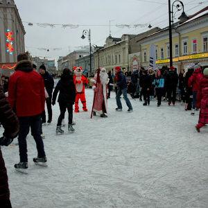 Ледяной каток появится на улице Рождественской - фото